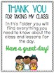 3-6 Substitute Teacher Pack *100+ Pages of Activities and