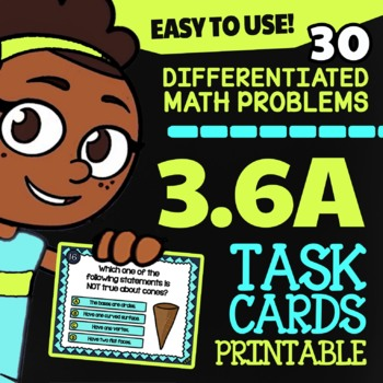 3.6A Math ★ 2D & 3D Shapes ★ Math TEK 3.6A ★ 3rd Grade STAAR Math Task Cards