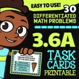 3.6A Math ★ 2D & 3D Shapes ★ Math TEK 3.6A ★ 3rd Grade STAAR Math Task Cards