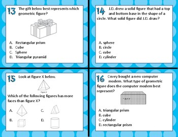 3.6A Classify & Sort 2D & 3D Figures task cards