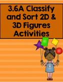 3.6A Classify and Sort 2D & 3D Figures Activities