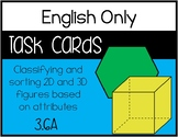 3.6A - Classifying and Sorting 2D and 3D Shapes - ENGLISH ONLY