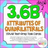 3.6B (DECK 2): Quadrilaterals STAAR Test Prep Task Cards! (Grade 3)