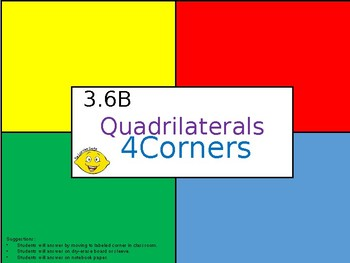3.6B Quadrilaterals - 4Corners PPT Activity