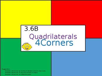 3.6B Quadrilaterals - 4Corners PPT Activity
