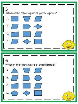 3.6B Quadrilaterals Task Cards