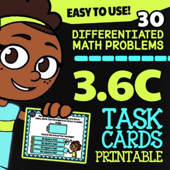 3.6C: Area of Rectangles ★ TEKS 3rd Grade Task Cards ★ STAAR Math Practice