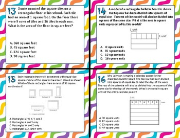 3.6C Area of Rectangles task cards