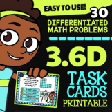 Math TEK 3.6D ★ Area of Composite Figures ★ 3rd Grade Task Cards