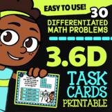 Math TEK 3.6D ★ Area of Composite Figures ★ 3rd Grade STAAR Math Task Cards