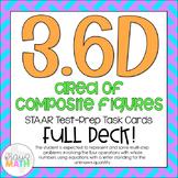 3.6D: Area of Composite Figures STAAR Test Prep Task Cards