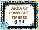 3.6D Area of Composite Figures task cards