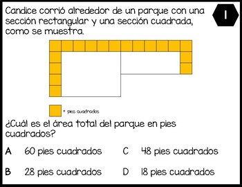 3.6D - Decompose figures formed by rectangles to determine the area - SPANISH
