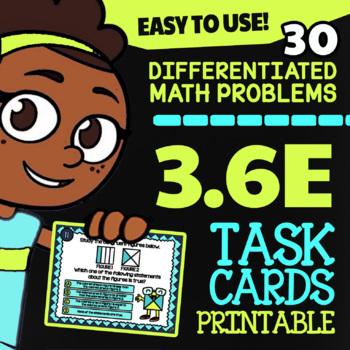 3.6E Math ★ CONGRUENT FIGURES ★ Math TEK 3.6E ★ 3rd Grade STAAR Math Task Cards