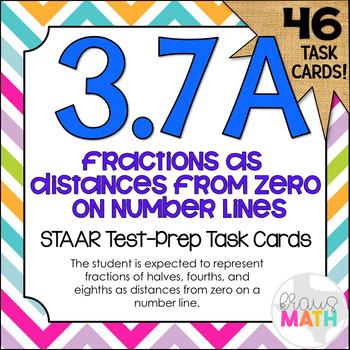 3.7A: Fraction Measurements STAAR Test Prep Task Cards (GRADE 3)