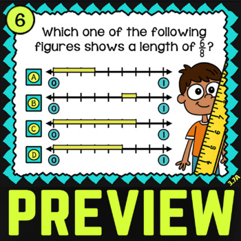 3.7A Fractions on a Number Line: 3rd Grade TEKS Math Review  ★ STAAR Test Prep