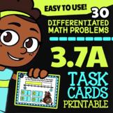 Math TEK 3.7A ★ Fractions on a Number Line Task Cards ★ 3rd Grade