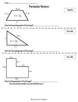 3.7B Perimeter Review and Quiz