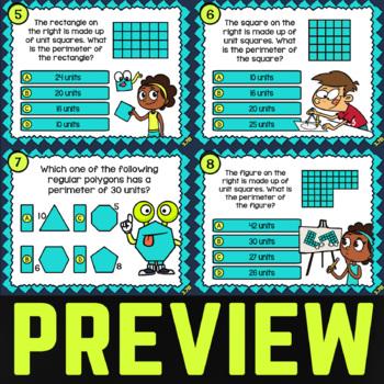 3.7B: Perimeter of Polygons ★ 3rd Grade TEKS Math Task Cards ★ STAAR Math Review