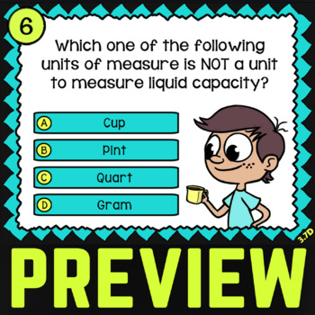 3.7D Capacity and Mass ★ TEKS Task Cards ★ 3rd Grade STAAR Math Practice