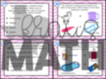 3.7D: Determine Units of Measurement STAAR Test-Prep Task Cards (GRADE 3)
