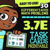 Math TEK 3.7E ★ Capacity and Weight ★ 3rd Grade STAAR Math Test Prep Task Cards