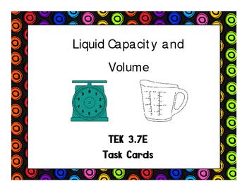 3.7E Determine Liquid Volume (Capacity) and Weight