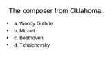 A- 3rd-8th General music test w/supplemental material PP MULT CHOICE GAME #4.