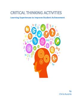 3 - 8 Grade Critical Thinking Activities