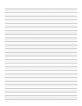 """3/8"""" Lined Handwriting Paper"""