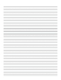 "3/8"" Lined Handwriting Paper"