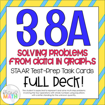 3.8A: Data in Graphs STAAR Test Prep Task Cards (GRADE 3)