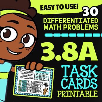 3.8A Dot Plots, Bar Graphs and Pictographs ★ TEKS Task Cards, STAAR Math Grade 3