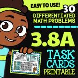 Math TEK 3.8A ★ Dot Plots, Bar Graphs & Pictographs ★ 3rd Grade Task Cards