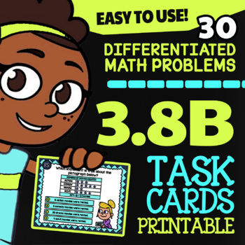 3.8B Dot Plots, Bar Graphs and Pictographs ★ STAAR Math Review TEKS Task Cards