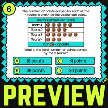 3.8B Dot Plots, Bar Graphs and Pictographs II ★ 3rd Grade Math TEK 3.8B ★ STAAR