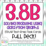 3.8B: Using Graphs/Data to Solve Problems STAAR Test Prep Task Cards (GRADE 3)