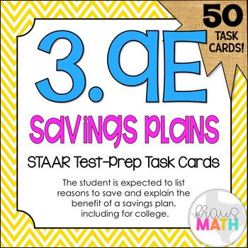 3.9E: Savings Plan STAAR Test-Prep Task Cards (GRADE 3)