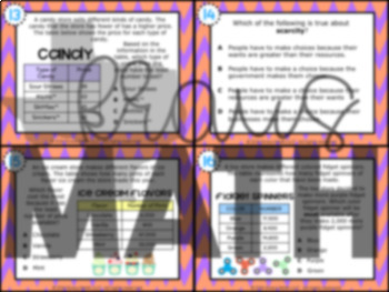 3.9B: Scarcity of Resources STAAR Test Prep Task Cards (GRADE 3)
