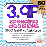 3.9F: Income, Spending, Savings, Credit & Charity STAAR Test Prep Task Cards
