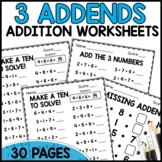 3 ADDEND Print and Go Sheets
