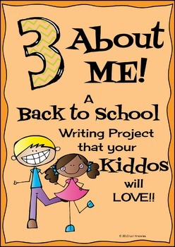 3 About Me! Back to School Writing Activity