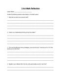 3 Act Math Reflection Sheet