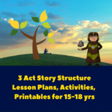 3 Act Story Structure: Creative Writing Lesson Plans for 1