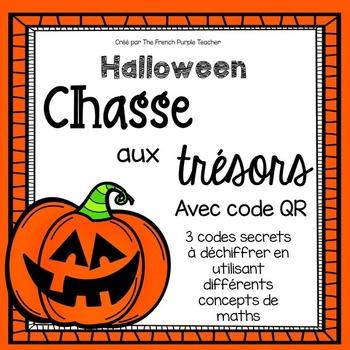 3 Activités de mathématique pour Halloween avec code QR