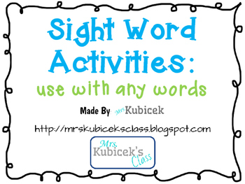 3 Activities For Any Word