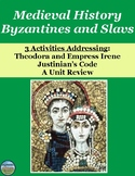 Byzantines and Slavs Medieval History Review Activities