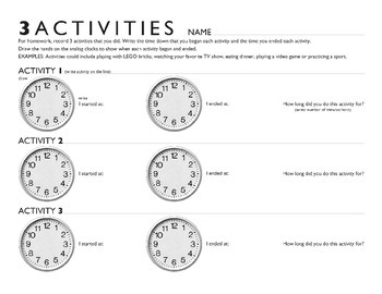 3 Activities with TIME!