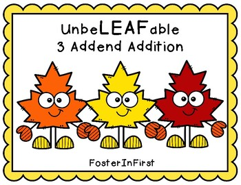 3 Addend Addition Leaves