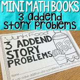 3 Addend Story Problems { Mini Math Book }